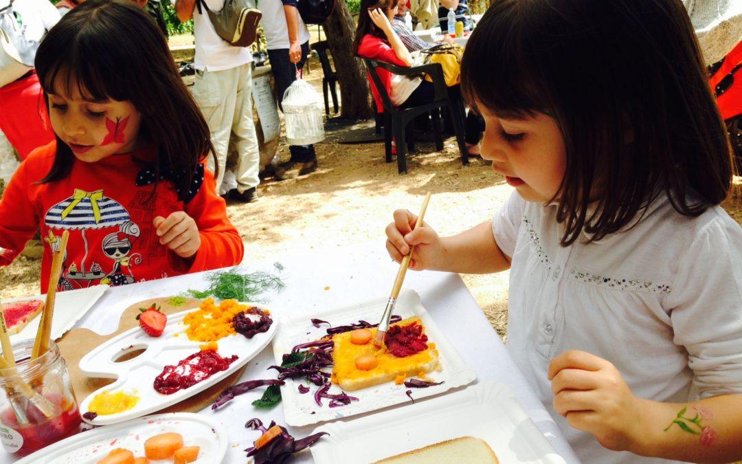 Attività ricreative all'aperto per bambini e ragazzi su Arte,Cibo e Natura.