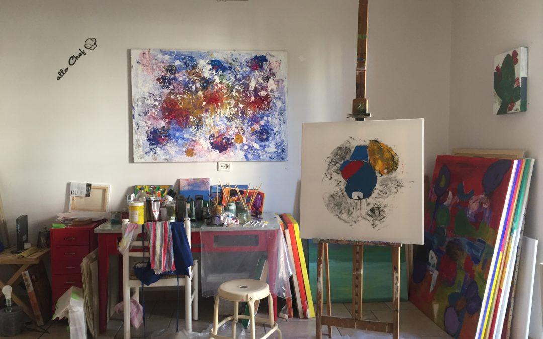 Il mio nuovo Atelier di pittura a Bari Italia